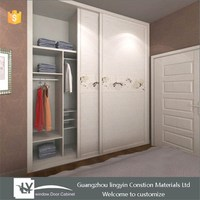 Hot sale Italy Style Shutter Sliding wardrobe bedroom furniture with butterfly