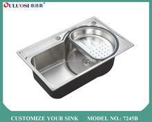 latest 2015 modern style foshan kitchen stainless steel sink work table 7245B