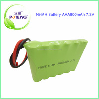 Hot rechargeable battery ni-mh AAA battery pack 7.2v 800mah