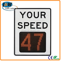 Solar Powered Radar Speed Limit LED Traffic Warning Sign for Sale