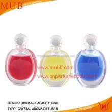Zhejiang Factory Fashion Clear Empty Crystal Perfume Bottle