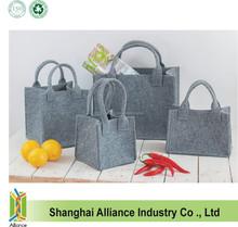 Felted Wool Gray Tote Bag / Felted Shoulder Tote Bag