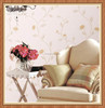 Simple style living room PVC wallpaper in good price with flower embossed