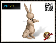Popular toy youngest special appearance modern wood rabbit as a gift