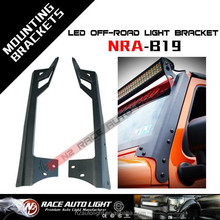 "07-15 Jeep Wrangler JK 50""/52"" 300W LED Light Bar Upper Roof Mounting Brackets"