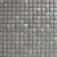 White color mother of pearl tile 3d surface