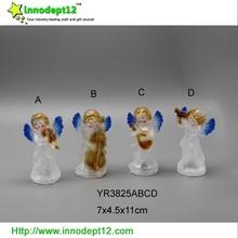 LED color changing flashing Christmas decoration acrylic angel figurines