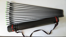 black and white Hunting Archery Fiberglass Arrows Target Practice Arrows With Screw Tips