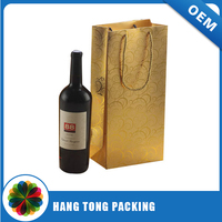 new design bottle liquor paper package bag for gift