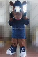 100% in kind shooting human size plush horse mascot costume to fit all unsiex adult horse mascot costume