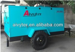 Oil injected silent portable air compressor for oil industry