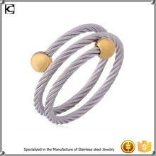 gold beads expandable adjustable wire bangle bracelet wholesale