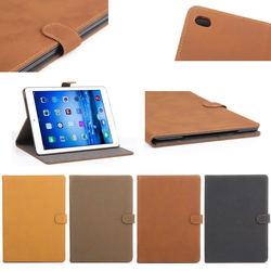 retro PU leather material flip cover case for iPad air 2 , for ipad air2 case China supplier