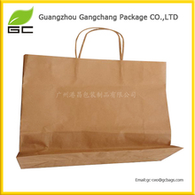 China manufacturer brown craft paper reusable shopping bags