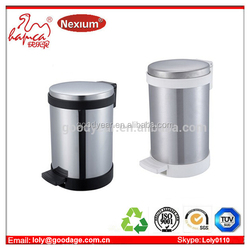 Trash Can Round Shape Foot Pedal Bin With ABS Base Manufacture With BSCI & Wal-Mart Factory Report