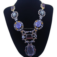New Fashion Choker Vintage Rhinestone Bib Statement Necklaces & Pendants Women Jewelry Gift