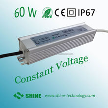 High quality 3 years warranty waterproof led driver 60w, led strip driver, led strip power supply