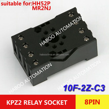 HABOO sereis socket 10F-2Z-C3 8pin socket for HH54P & MY4NJ relay PF-083BE electrical relay sockets