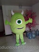 Top selling cutest Mike wazowski plush mascot costume Adult