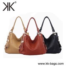 China Customized Hot lady Leather Handbag / Cheap Wholesale PU leather handbag