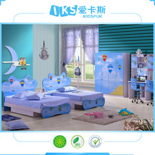 double folding bed furniture children bedroom sets K112