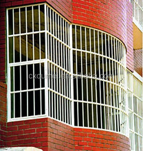 superior high quality Decorative security iron window grill design/Galvanizing house windows