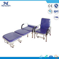 Professional Steel folding hospital recliner chair bed for sale (YXZ-042)