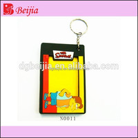 Custom cheap engraved silicone soft pvc frame picture photo keychains