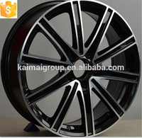 The black machined face alloy wheel rim for your choice