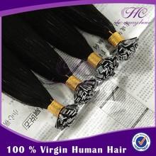 Goods of high demand italian keratin flat tip type human hair extensions