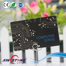Matte black metal cards with punched hole/Stainless steel business cards(China Manufacturer)