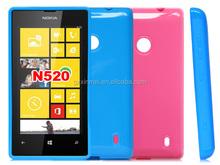 TPU back phone case for nokia lumia 520 factory cell phone cover,case for Nokia 520 flip handbag