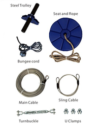 Quality ZipLine and Cable Trolley Pulley - Love Sports, Love Fun and Love Life!