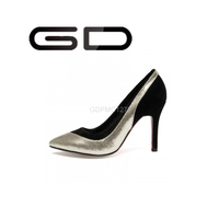 Sexy Mature ladies office dressing wear GD 2015 glitter nubuck high pump shoes