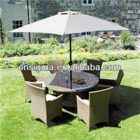 2014 New Europe Leisure Outdoor Ratan Furniture 6 Seater Rattan Dinner Set