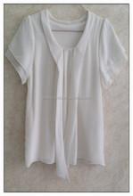 Sailor collar chiffon t-shirt sweet bow girl white tshirt