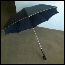 Chinese auto open and close straight auto walking stick umbrella
