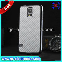 Chrome case for samsung galaxy S5 carbon fiber skin cell phone case