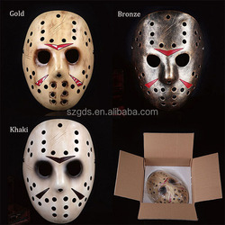 Factory High Quality Halloween Resin killer Jason Hockey Mask Freddy vs Jason Resin Mask Halloween Decoration And Gift Life size