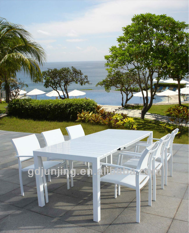 White Aluminum Outdoor Patio Furniture Jjb7004 T Buy White Aluminum Outdoor