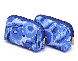 2015 simple PU leather toilet bag , cosmetic bag
