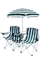 double folding beach chair with umbrella