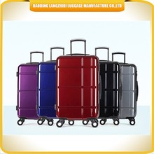 2015 Alibaba eminent ABS luggage case cheap travelling suitcase plastic made luggage trolley