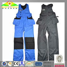 100% cotton get EN11612 certificate fire retardant suspender trousers /bib pants