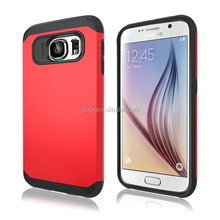 Hot selling Professional hard TPU+PC Hybrid mobile phone case for Samsung Galaxy S6