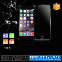 98% Prefect Size Anti-explosive 2.5D Round angle mobile phone premium tempered glass screen protector for iphone6