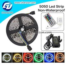 Promotion 5m Led strip 5050 smd flexible light 300 led Non waterproof lamp rgb led rope light