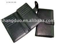 promotional leather passport holder case with card slots