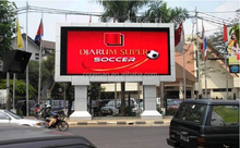 led video screen curve latch led billboard/electronic display p10 outdoor full color led module