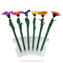 Wholesale DIY flower novelty pens logo polymer clay pen